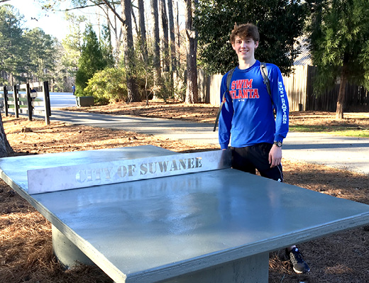 New Concrete Ping Pong Table At Sims Lake Park