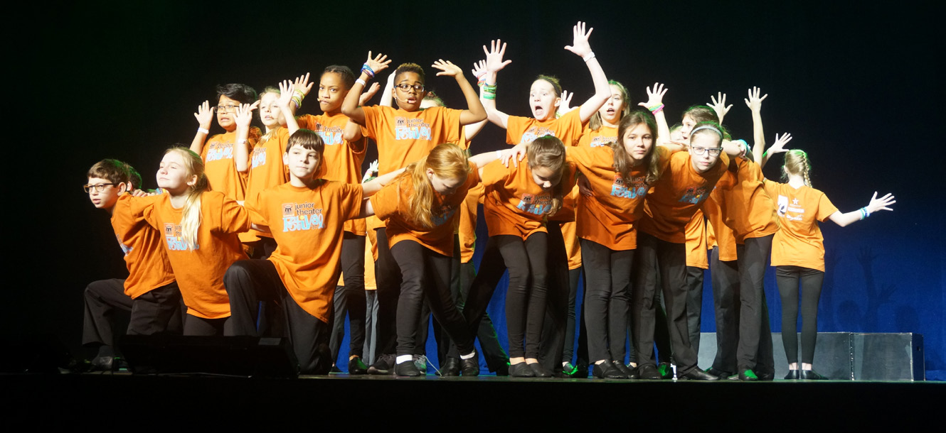The North Gwinnett Middle School musical theatre troupe