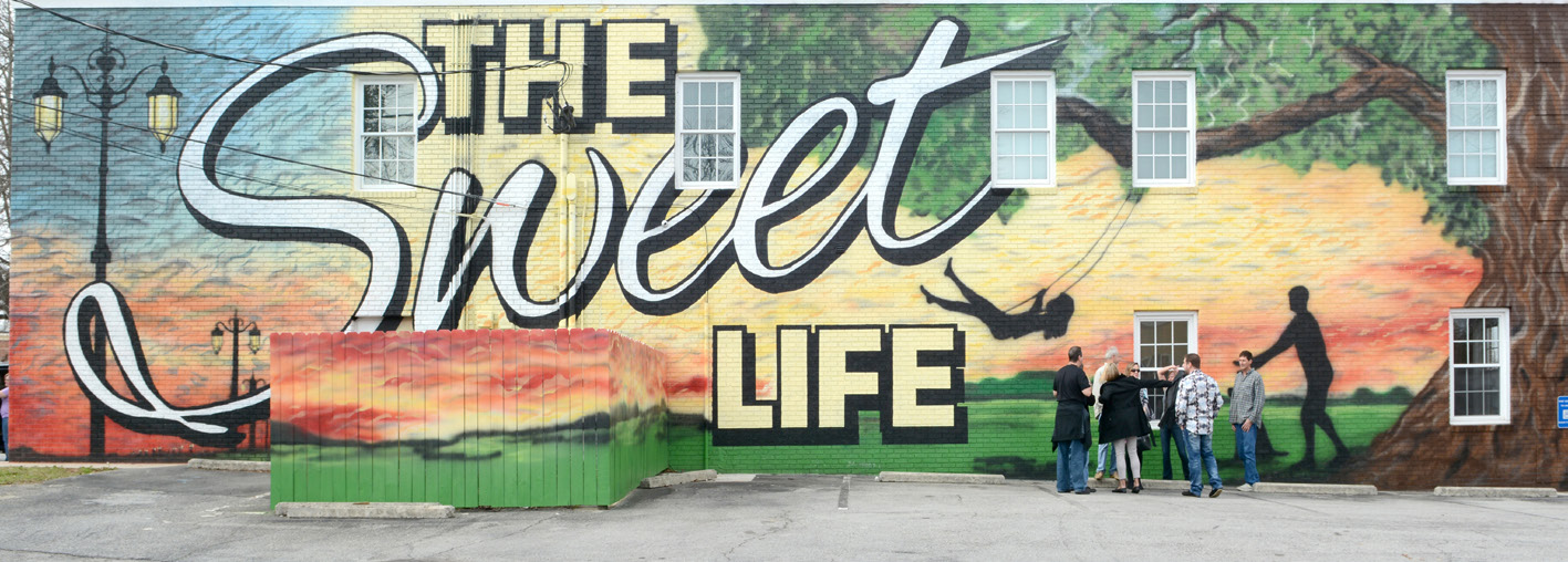 sugar hill sweet life mural